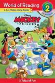 Libro in inglese World of Reading Mickey and Friends 3-In-1 Listen-Along Reader (World of Reading Level 2): 3 Fun Tales with CD! Disney Book Group