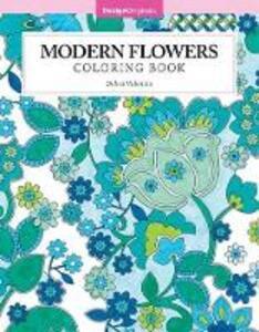 Modern Flowers Coloring Book - Debra Valencia - cover
