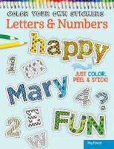 Color Your Own Stickers Letters & Number - Peg Couch - cover