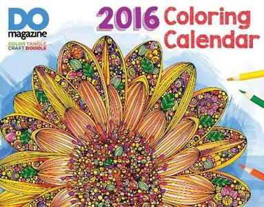 2016 Design Originals Coloring Calendar - Thaneeya - Valencia, Debra - Vo McArdle - cover