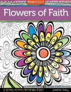 Flowers of Faith Coloring Book - Joanne Fink - cover