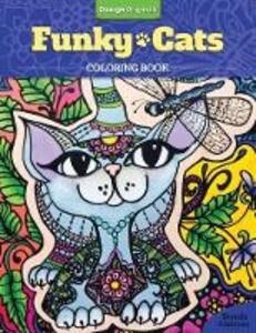 Funky Cats Coloring Book - Brenda Abdoyan - cover
