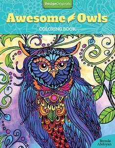 Awesome Owls Coloring Book - Brenda Abdoyan - cover