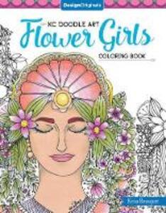 KC Doodle Art Flower Girls Coloring Book - Krisa Bousquet - cover