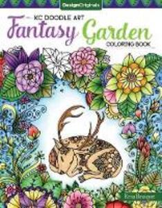 KC Doodle Art Fantasy Garden Coloring Book - Krisa Bousquet - cover