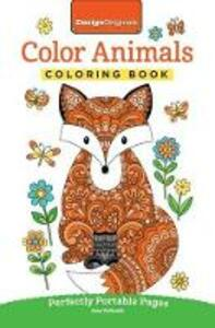 Color Animals Coloring Book: Perfectly Portable Pages - Jess Volinski - cover