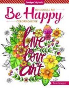 KC Doodle Art be Happy Coloring Book - Krisa Bousquet - cover