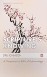 Scripture's Knowing - Dru Johnson - cover