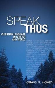 Speak Thus - Craig R Hovey - cover