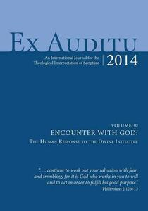 Ex Auditu-Volume 30-Encounter with God: The Human Response to the Divine Initiative - cover