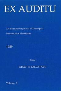 Ex Auditu - Volume 05: An International Journal for the Theological Interpretation of Scripture - cover