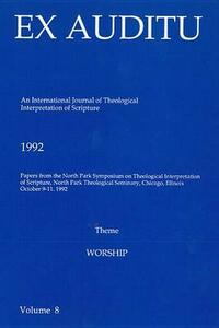 Ex Auditu - Volume 08: An International Journal for the Theological Interpretation of Scripture - cover