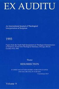 Ex Auditu - Volume 09: An International Journal for the Theological Interpretation of Scripture - cover