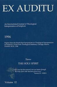 Ex Auditu - Volume 12: An International Journal for the Theological Interpretation of Scripture - cover