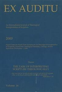 Ex Auditu - Volume 16: An International Journal for the Theological Interpretation of Scripture - cover