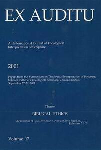 Ex Auditu - Volume 17: An International Journal for the Theological Interpretation of Scripture - cover
