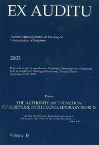 Ex Auditu - Volume 19: An International Journal for the Theological Interpretation of Scripture - cover