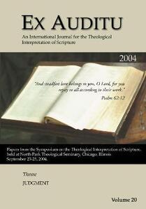 Ex Auditu - Volume 20: An International Journal for the Theological Interpretation of Scripture - cover