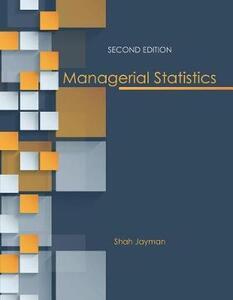 Managerial Statistics - Shah Jayman - cover