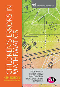 Children's Errors in Mathematics - Alice Hansen,Doreen Drews,John Dudgeon - cover