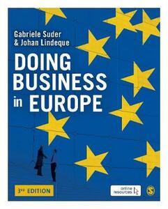 Doing Business in Europe - Gabriele Suder,Johan Lindeque - cover