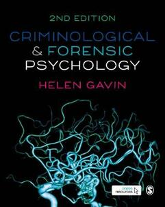Criminological and Forensic Psychology - Helen Gavin - cover