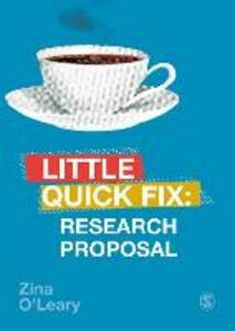 Research Proposal: Little Quick Fix - Zina O'Leary - cover