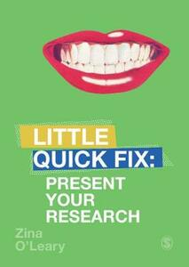 Present Your Research: Little Quick Fix - Zina O'Leary - cover