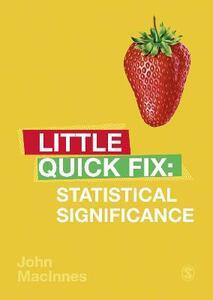 Statistical Significance: Little Quick Fix - John MacInnes - cover