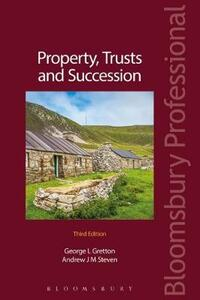 Property, Trusts and Succession - Andrew Steven - cover