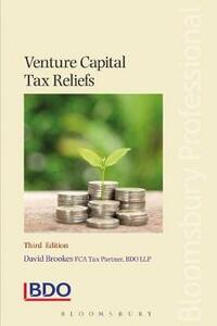 Venture Capital Tax Reliefs - David Brookes - cover