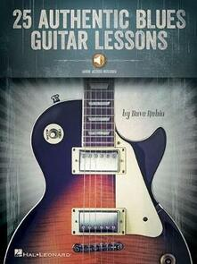 25 Authentic Blues Guitar Lessons - Dave Rubin - cover