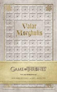 Game of Thrones: Valar Morghulis Hardcover Ruled Journal - . HBO - cover