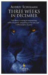 Three weeks in december - Audrey Schulman - copertina
