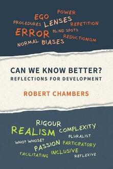 Can We Know Better?: Reflections for development - Robert Chambers - cover