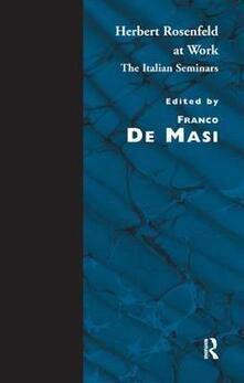 Herbert Rosenfeld at Work: The Italian Seminars - Herbert A. Rosenfeld - cover
