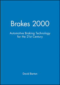 Brakes 2000: Automotive Braking Technology for the 21st Century - cover