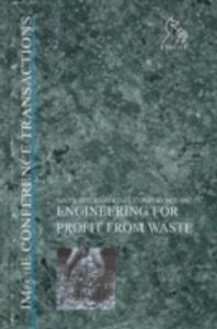 Engineering for Profit from Waste VI - IMechE (Institution of Mechanical Engineers) - cover