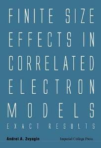 Finite Size Effects In Correlated Electron Models: Exact Results - Andrei A. Zvyagin - cover