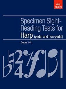 Specimen Sight-Reading Tests for Harp, Grades 1-8 (pedal and non-pedal) - cover