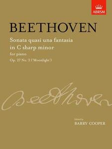 Sonata quasi una fantasia in C sharp minor, Op. 27 No. 2 ('Moonlight'): from Vol. II - cover