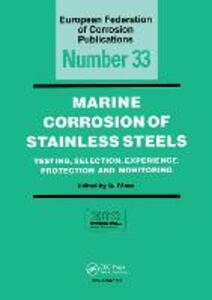 Marine Corrosion of Stainless Steels, EFC 33 - D. Feron - cover