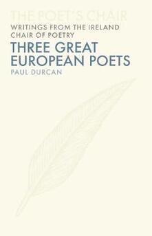 Three European Poets - Paul Durcan - cover