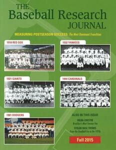 Baseball Research Journal (BRJ), Volume 44 #2 - Society for American Baseball Research - cover