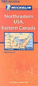 Northeastern U.S.A., Eastern Canada 1:2.400.000