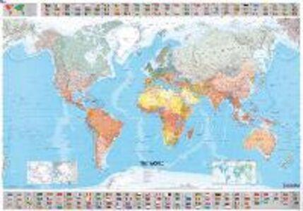 Libro Il mondo 1:28.500.000. Carta plastificata