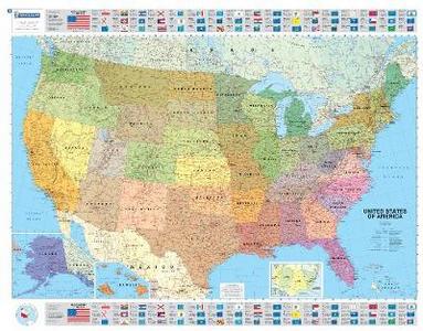 Libro U.S.A. Politica 1:3.850.000. Carta plastificata