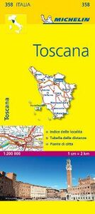 Foto Cover di Toscana 1:200.000, Libro di  edito da Michelin Italiana