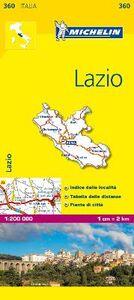 Foto Cover di Lazio 1:200.000, Libro di  edito da Michelin Italiana