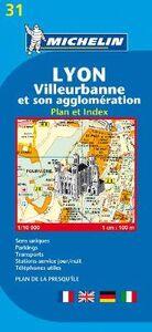Libro Lyon. Villeurbanne et son agglomération. Plan et index 1:10.000